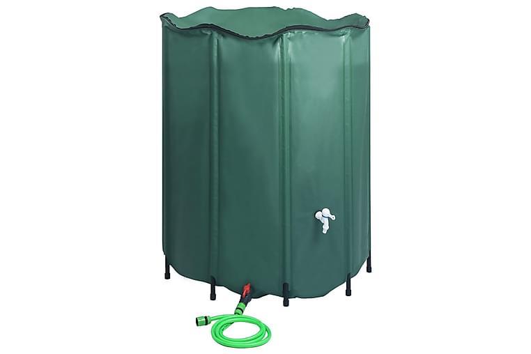 Sammenleggbar regnvannstank med vannkran 1000 L - Grønn - Hage - Dyrking & hagearbeid - Drivhustilbehør