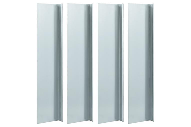 Sneglegjerde 4 plater galvanisert stål 150x7x25 cm 0,7 mm - Silver - Hage - Dyrking & hagearbeid - Drivhustilbehør