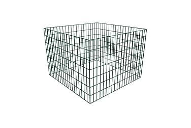 Hagekompostbinge firkantet gitter 100x100x70 cm