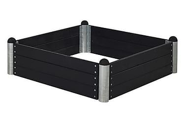 Pipe dyrkingskasse 140x140 cm høyde 36 cm svart
