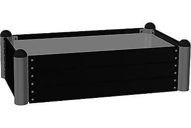 Pipe dyrkingskasse 80x140 cm høyde 36 cm svart
