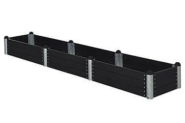 Pipe dyrkingskasse 80x400 cm høyde 36 cm svart