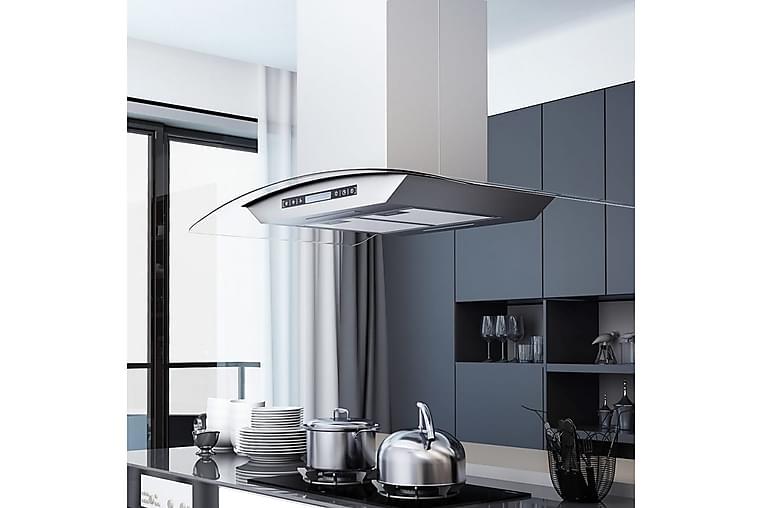 Kjøkkenvifte LCD berøringssensor 90 cm 756 m³/t LED