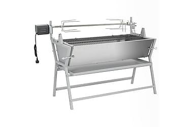 Grill med grillspyd jern og rustfritt stål