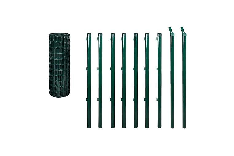Euro gjerde stål 10 x 1,2 m grønn - Hage - Hagedekorasjon & utemiljø - Gjerder & Grinder