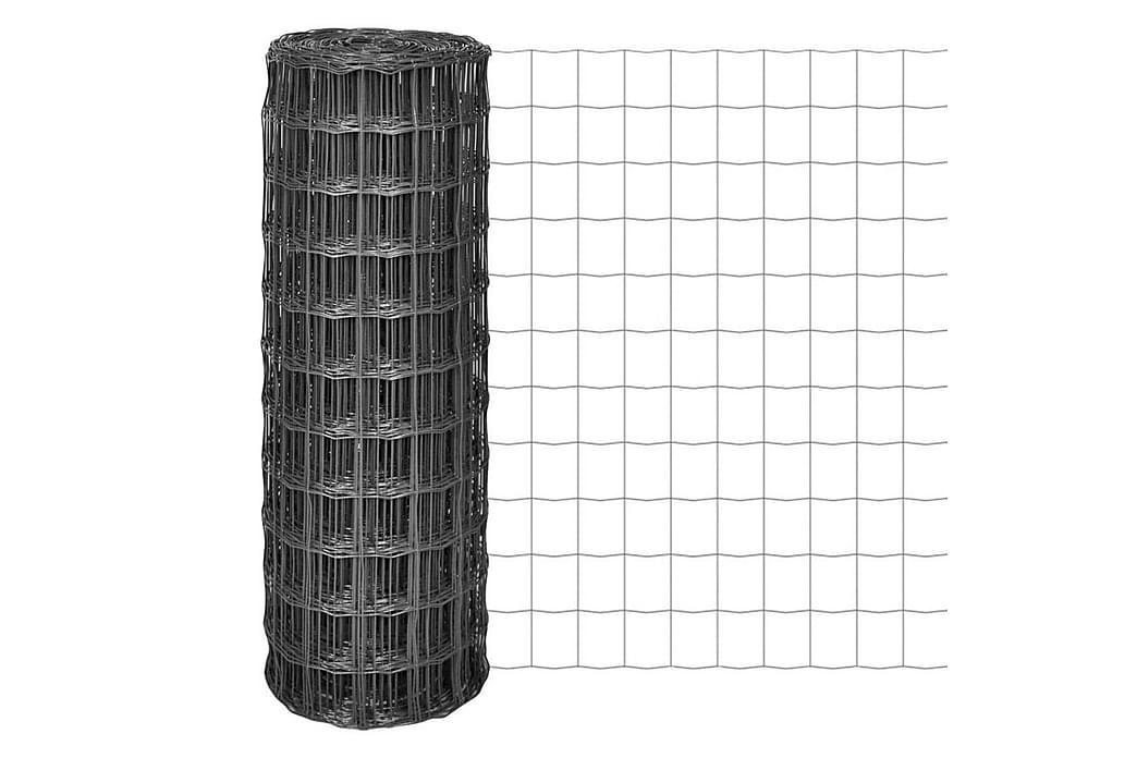 Euro gjerde stål 10x1,2 m grå - Hage - Hagedekorasjon & utemiljø - Gjerder & Grinder