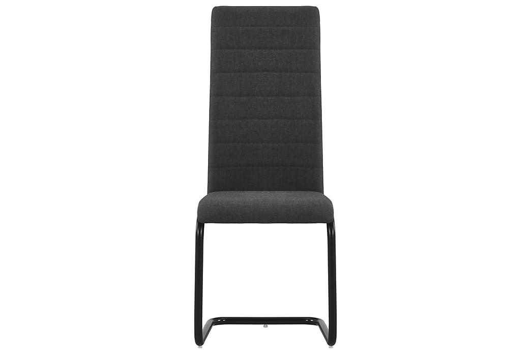Frittbӕrende spisestoler 4 stk mørkegrå stoff - Grå - Hage - Hagedekorasjon & utemiljø - Gjerder & Grinder