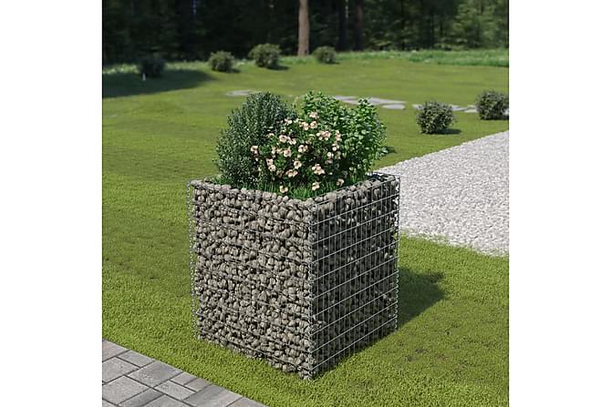 Gabion galvanisert stål 90x90x100 cm - Hage - Blomsterpotter - Store blomsterkrukker