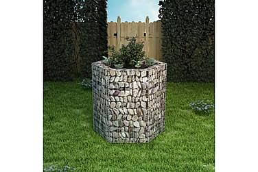 Gabion plantekasse sekskantet 100x90x100 cm