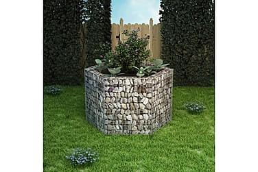 Gabion plantekasse sekskantet 160x140x100 cm