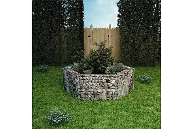 Gabion plantekasse sekskantet 160x140x50 cm - Hage - Blomsterpotter - Store blomsterkrukker