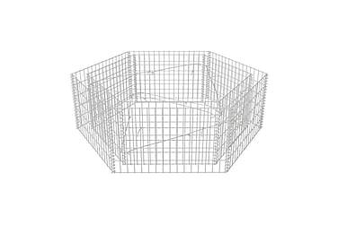 Gabion plantekasse sekskantet 160x140x50 cm
