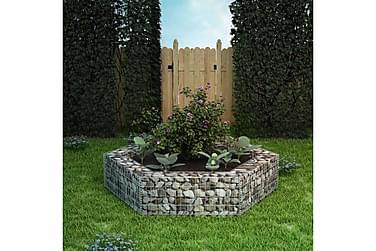 Gabion plantekasse sekskantet 200x173x40 cm