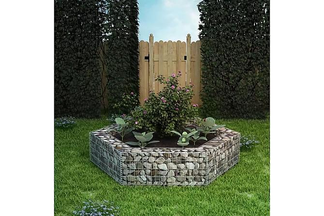 Gabion plantekasse sekskantet 200x173x40 cm - Hage - Blomsterpotter - Store blomsterkrukker