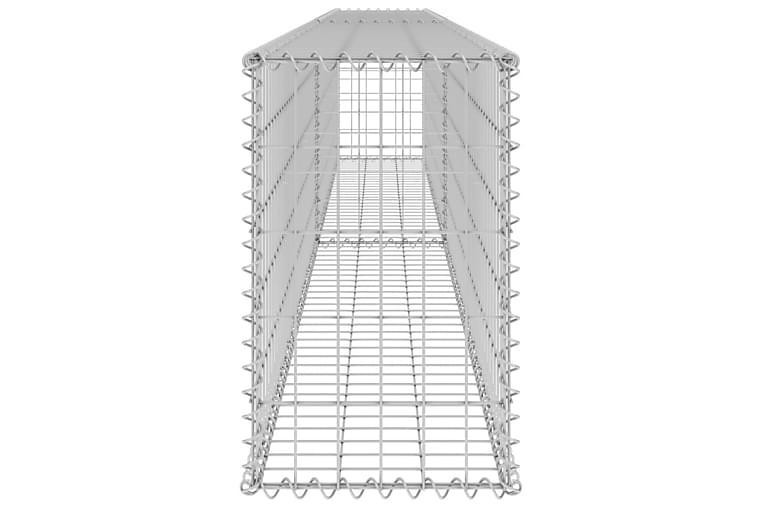 Gabion med topp- og bunndekke galvanisert stål 300x30x50 cm - Silver - Hage - Hagedekorasjon & utemiljø - Gjerder & Grinder