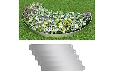 Gjerdekanter i galvanisert stål 100 x 15 cm sett 5 deler