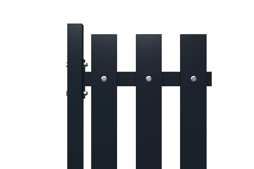 Gjerdepanel antrasitt 174,5x125 cm pulverlakkert stål - Antrasittgrå - Hage - Hagedekorasjon & utemiljø - Gjerder & Grinder