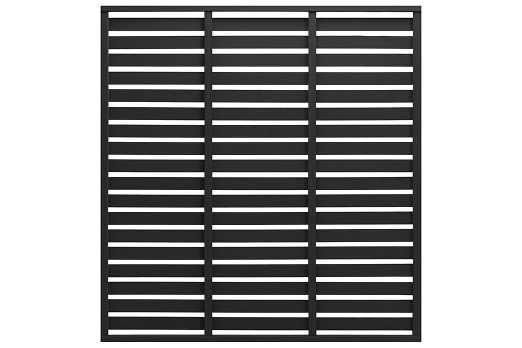 Gjerdepanel WPC 170x180 cm svart - Svart - Hage - Hagedekorasjon & utemiljø - Gjerder & Grinder