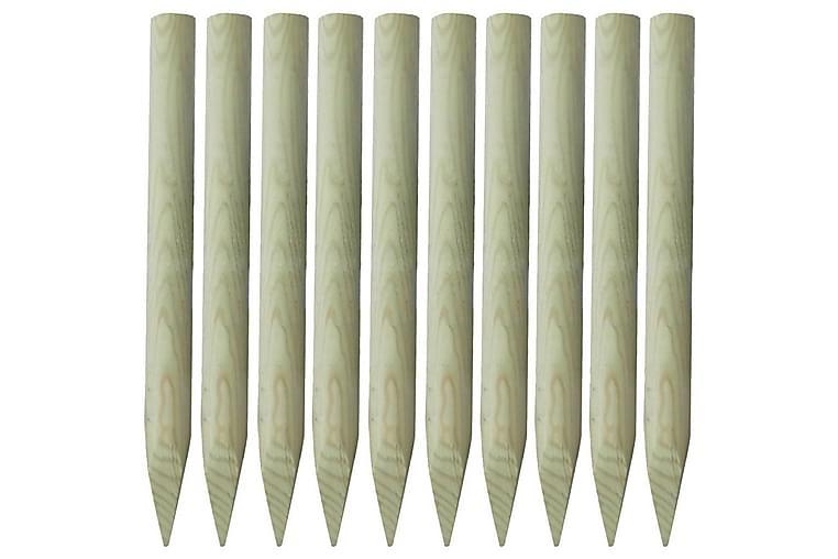 Gjerdestolper 10 stk tre 100 cm - Hage - Hagedekorasjon & utemiljø - Gjerder & Grinder