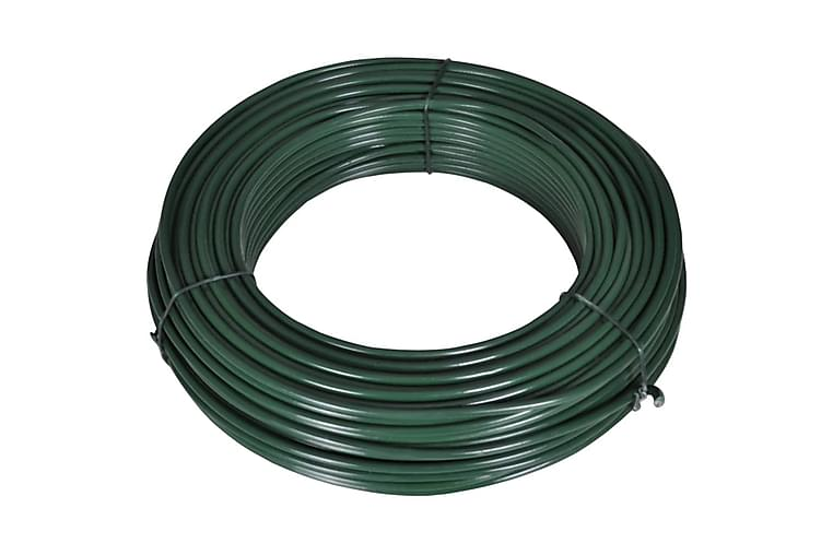 Gjerdetråd 55 m 2,1/3,1 mm stål grønn - Hage - Hagedekorasjon & utemiljø - Gjerder & Grinder