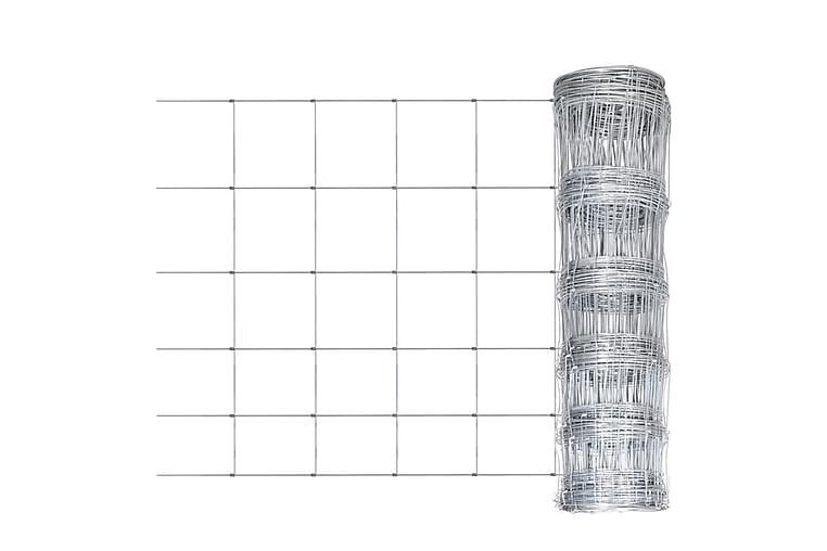 Hagegjerde galvanisert stål 50x1,6 m sølv - Silver - Hage - Hagedekorasjon & utemiljø - Gjerder & Grinder