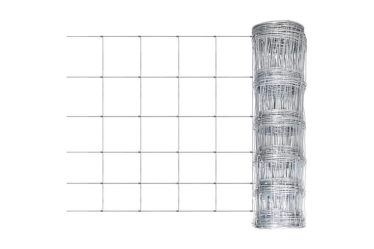 Hagegjerde galvanisert stål sølv 50x0,8 m - Silver - Hage - Hagedekorasjon & utemiljø - Gjerder & Grinder