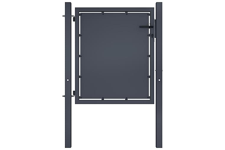 Hageport stål 100x100 cm antrasitt - Hage - Hagedekorasjon & utemiljø - Gjerder & Grinder
