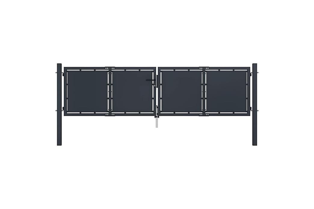 Hageport stål 300x100 cm antrasitt - Hage - Hagedekorasjon & utemiljø - Gjerder & Grinder