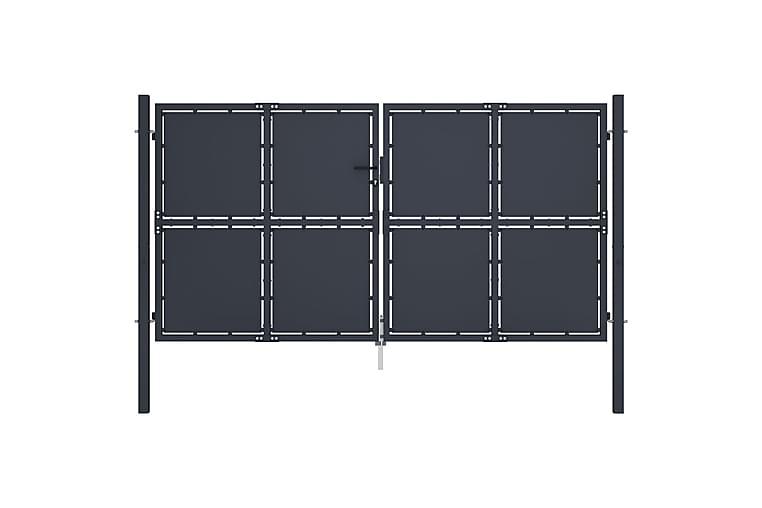 Hageport stål 300x150 cm antrasitt - Hage - Hagedekorasjon & utemiljø - Gjerder & Grinder