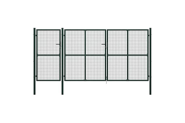 Hageport stål 400x150 cm grønn - grønn - Hage - Hagedekorasjon & utemiljø - Gjerder & Grinder
