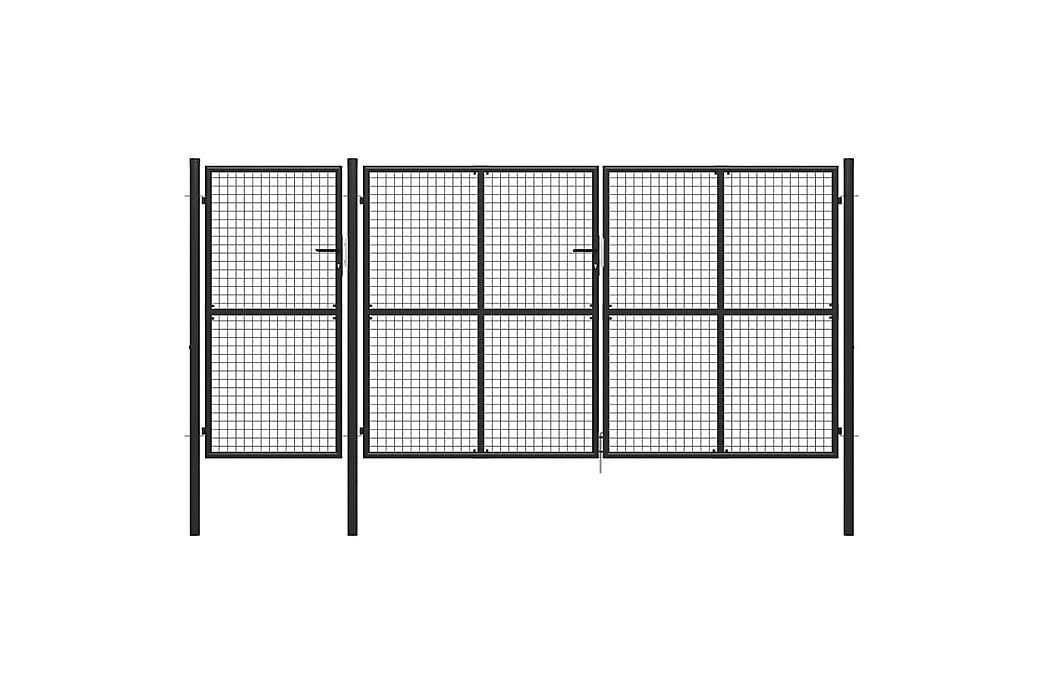 Hageport stål 400x175 cm antrasitt - Grå - Hage - Hagedekorasjon & utemiljø - Gjerder & Grinder