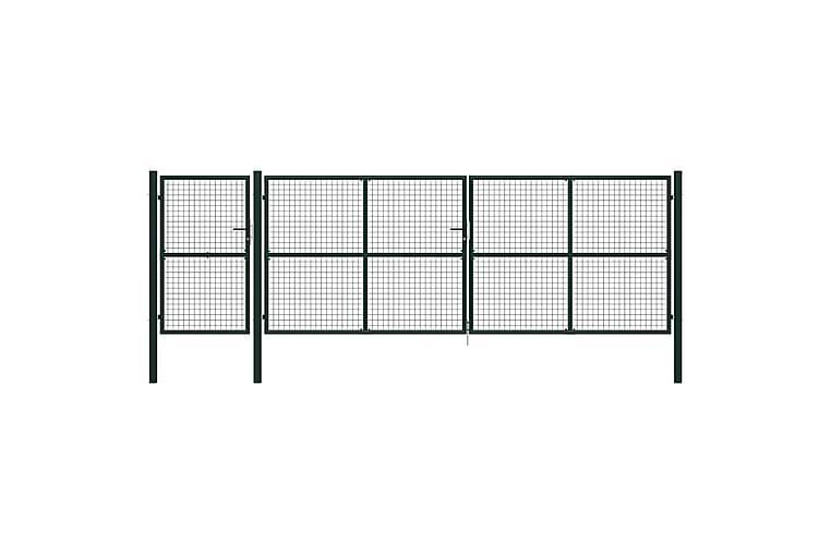 Hageport stål 500x150 cm grønn - Hage - Hagedekorasjon & utemiljø - Gjerder & Grinder
