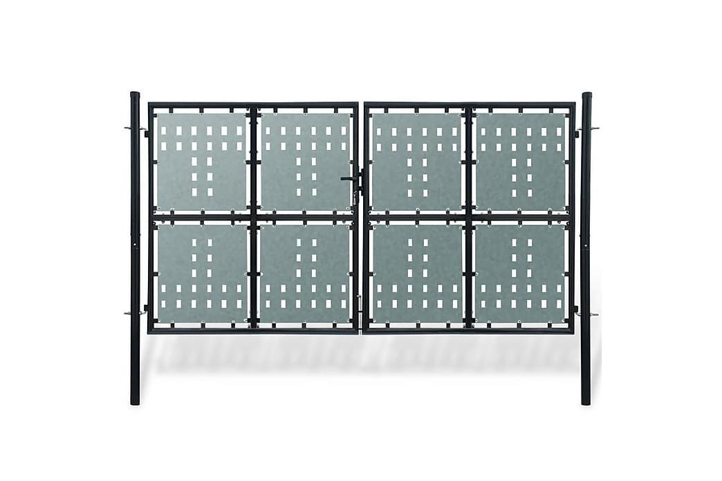 Sort Dobbel Dør Gateport 300 x 250 cm - Hage - Hagedekorasjon & utemiljø - Gjerder & Grinder