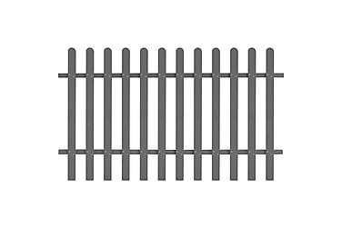 WPC Stakittgjerde 200x120 cm grå