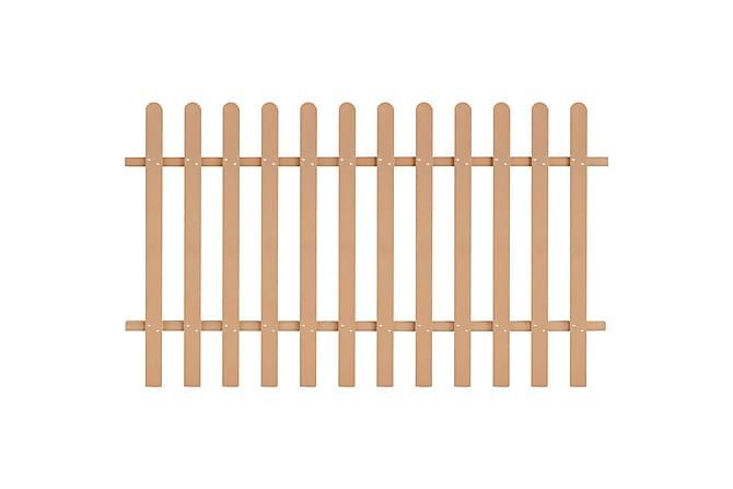 WPC Stakittgjerde 200x120 cm brun - Hage - Hagedekorasjon & utemiljø - Gjerder & Grinder
