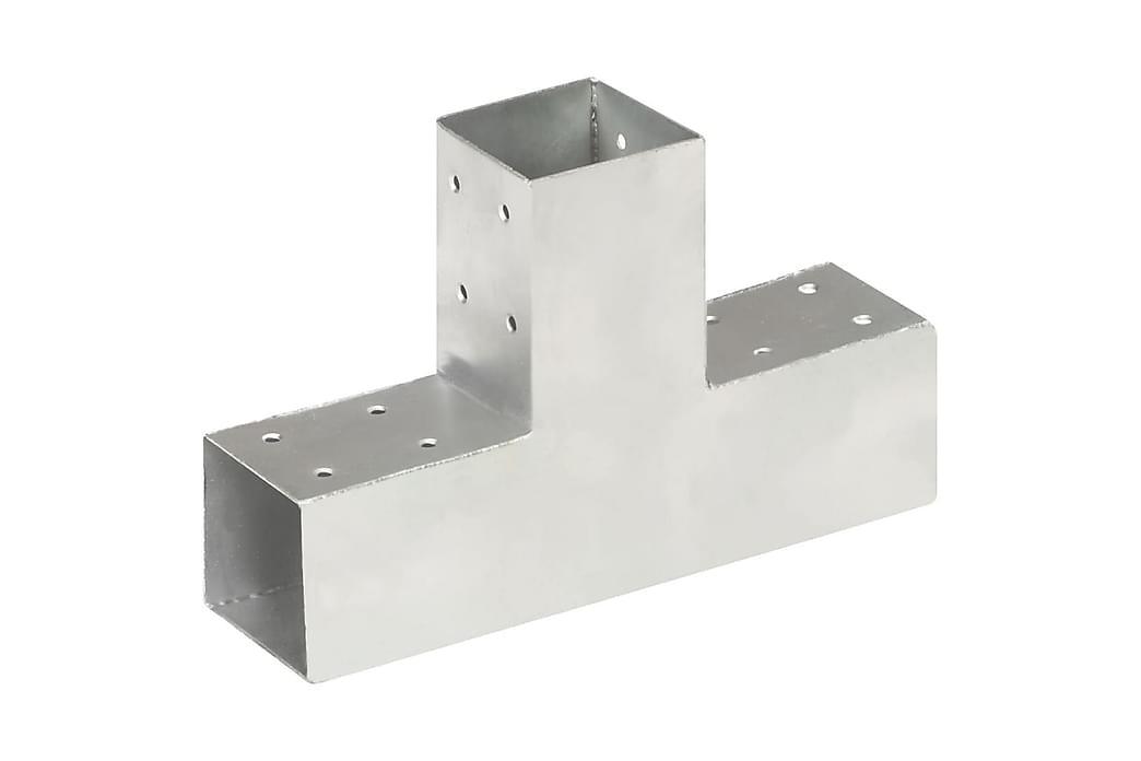 Stolpesko T-form galvanisert metall 71x71 mm - Hage - Hagedekorasjon & utemiljø - Gjerder & Grinder