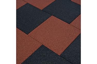 Fallunderlag fliser 12 stk gummi 50x50x3 cm svart