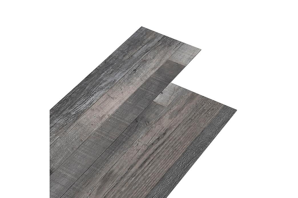 PVC-gulvplanker 5,02m² 2mm selvklebende industrielt trevirke - Hage - Hagedekorasjon & utemiljø - Terrassebord