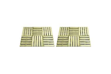 Terrassebord 12 stk 50x50 cm FSC tre grønn