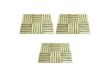 Terrassebord 18 stk 50x50 cm FSC tre grønn