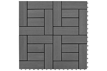 Terrassebord 22 stk 30x30 cm 2 kvm WPC grå