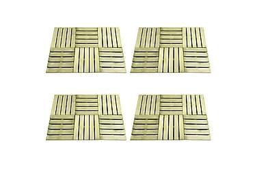 Terrassebord 24 stk 50x50 cm FSC tre grønn