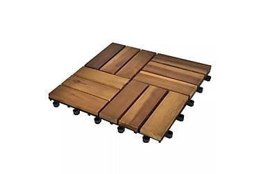 Terrassebord 30x30 cm Akasie Sett med 20
