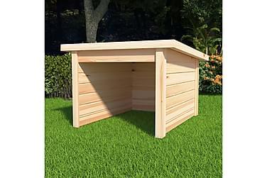 Garasje til gressklipper 92x104x59,5 cm heltre furu 19 mm