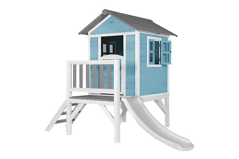 Beach Lekestue med Sklie Lodge XL Caribbean Blå/Hvit - AXI - Hage - Hobby & lek - Lekehus