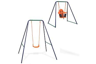 2-i-1 Enkel huske og barnehuske oransje