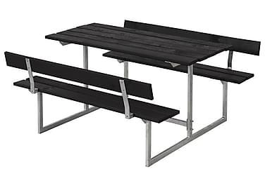 Basic bord- og benkesett til barn med 2 ryggstøtter svart