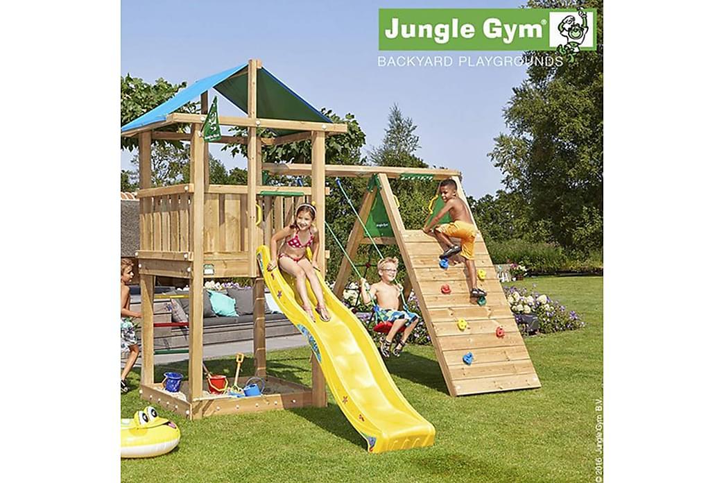 Jungle Gym Castle Leketårn Komplett inkl. Sklie - Hage - Hobby & lek - Lekeplass & lekeplassutstyr