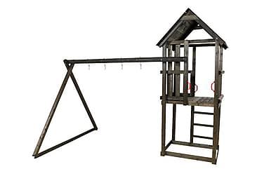 Leketårn med saltak uten huskeseter og sklie