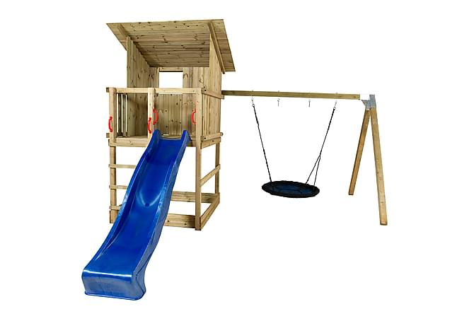 Plus Play Leketårn med Skråtak inkl. Husketid blå Rutsjebane - Hage - Hobby & lek - Lekeplass & lekeplassutstyr